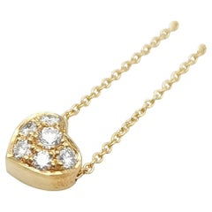 Tiffany & Co. Yellow Gold Pave Diamond Necklace