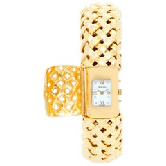 Tiffany & Co. Yellow Gold Quartz Cuff Wristwatch