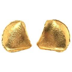 Tiffany & Co. Yellow Gold Rose Petal Earrings