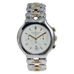 Tiffany & Co. Yellow Gold Stainless Steel Chronograph Watch