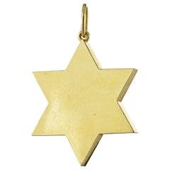 Tiffany & Co. Yellow Gold Star of David Vintage Charm Pendant