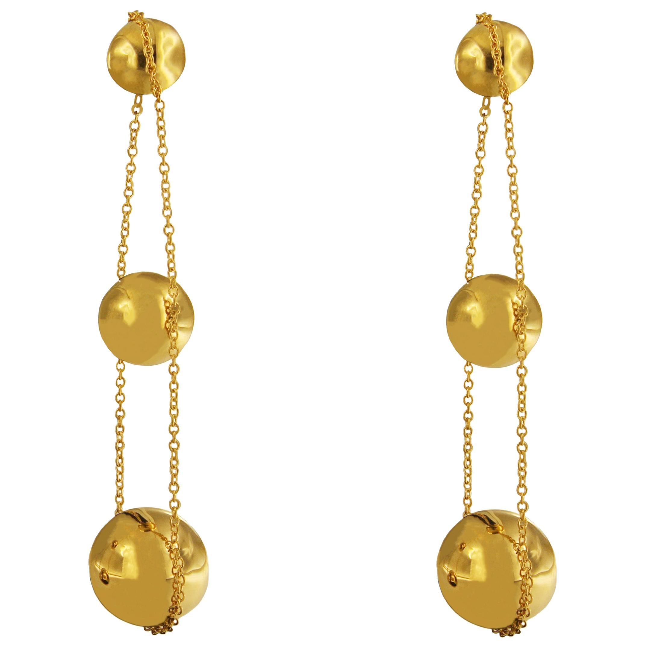 Tiffany & Co. Yellow Gold Triple Drop Earrings
