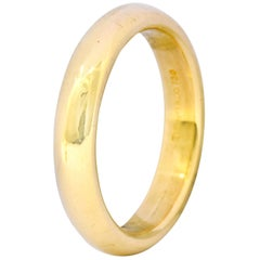 Tiffany & Co. Yellow Gold Wide Plain Wedding Band Ring 8.5 Grams, Estate