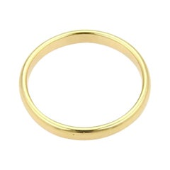 Tiffany & Co. Yellow Gold 4.3 mm  Wide Plain Wedding Band Ring, Estate