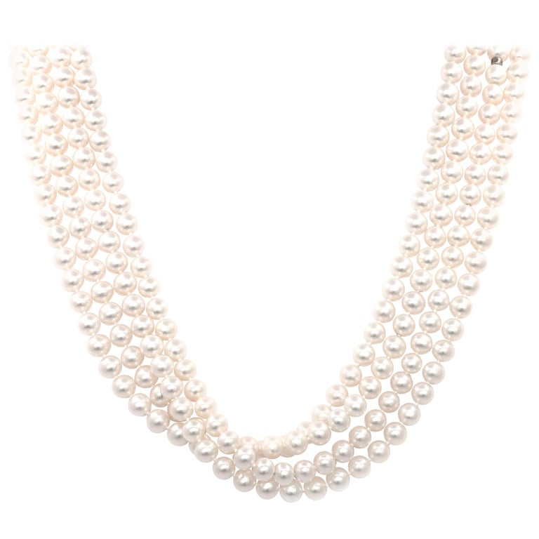 ea198c95d Tiffany and Co. Ziegfeld Collection Pearl Necklace at 1stdibs