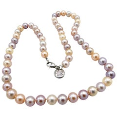 Tiffany & Co. Ziegfeld Pink Freshwater Sterling Silver Necklace