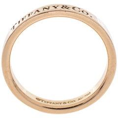 Tiffany & Co.18K Rose Gold Band Ring Size 51