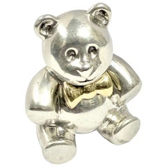 Tiffany & Co. Silver and Gold Teddy Bear Brooch