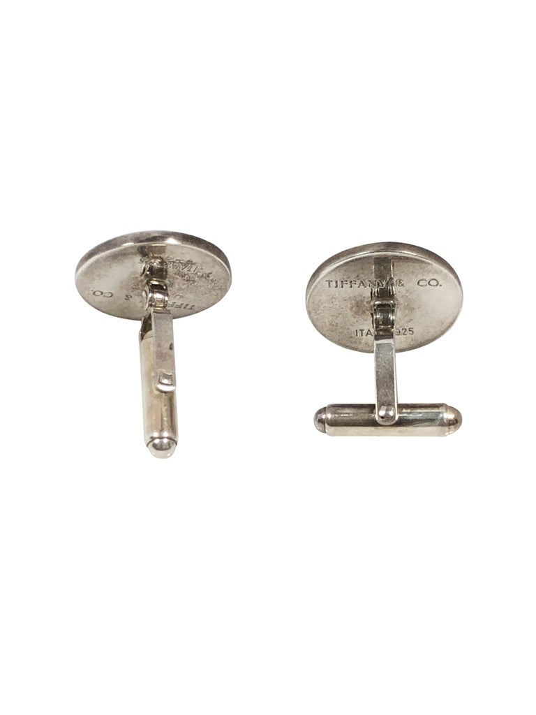 Tiffany & Co. Sterling and Enamel Golf Cufflinks In Excellent Condition For Sale In Chicago, IL