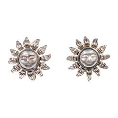Tiffany & Co. Sunburst Silver Earrings