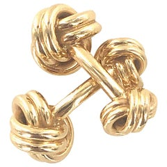 Tiffany & Co. Vintage 14 Karat Yellow Gold Double Knot Cufflinks