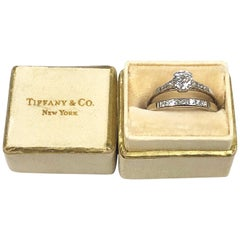 Tiffany & Co. Vintage Platinum and Diamond Engagement Ring Set