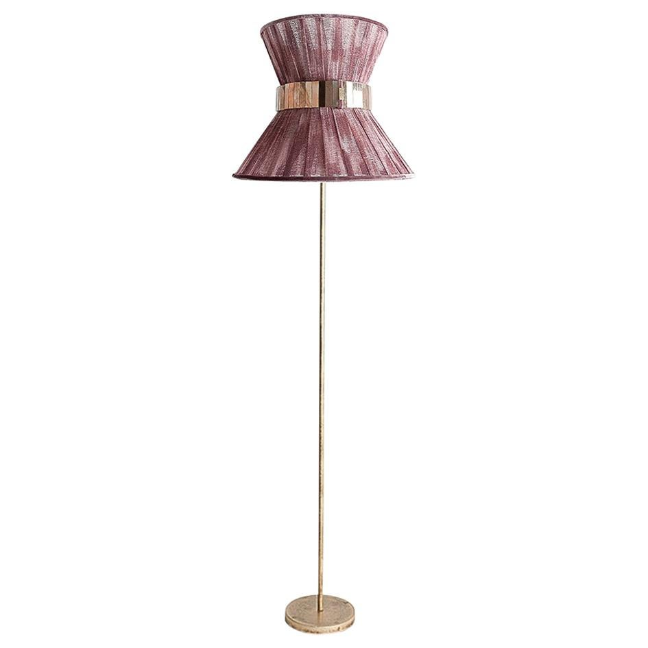 """""""Tiffany"""" Contemporary Floor Lamp 30 Onion Chalky, Antiqued Silvered Glass"""