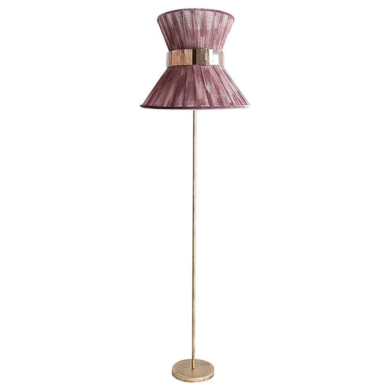 """""""Tiffany"""" Contemporary Floor Lamp 30 Onion Chalky, Antiqued Silvered Glass For Sale"""