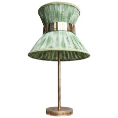 Tiffany Contemporary Table Lamp 30 Pine Painted Gauze Silvered Glass, Brass