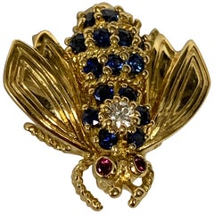 Tiffany & Co. Sapphire and Diamond Scatter Bee Pin