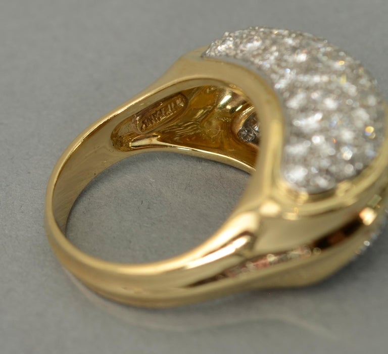 Women's or Men's Tiffany & Co. Diamond Cocktail Ring For Sale