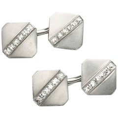 Tiffany & Co. Diamond Platinum Cufflinks