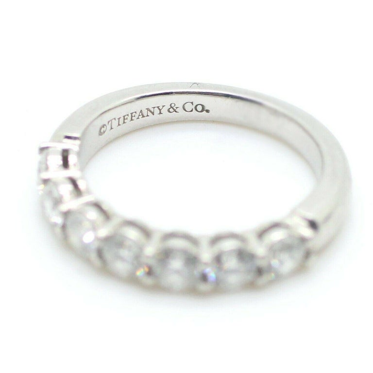 Contemporary Tiffany & Co. Embrace Band Ring in Platinum 7 Diamond Anniversary Ring For Sale