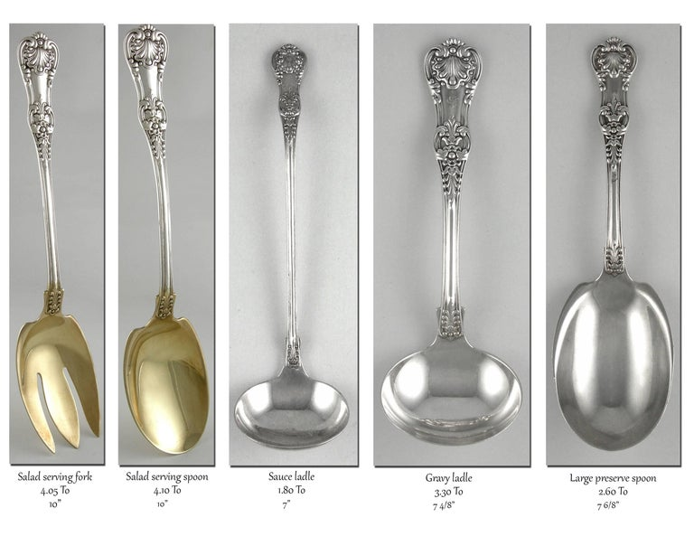 Tiffany English King 246 Piece Sterling Flatware Set, 1875-1891 For Sale 2