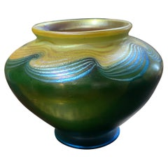 Tiffany Favrile Glass Cabinet Vase, Circa 1904