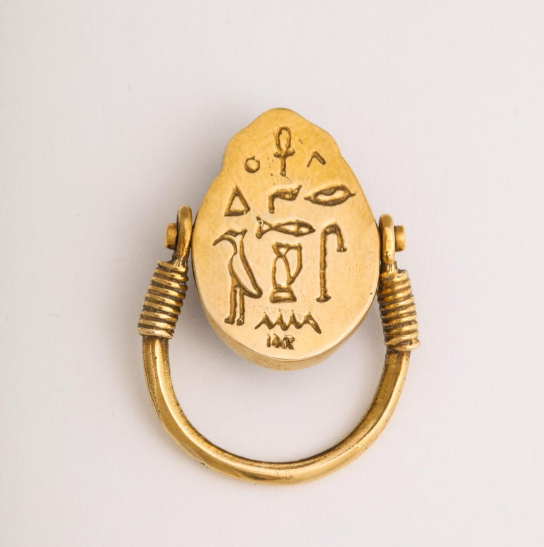 Tiffany & Co. Favrille Scarab in Later Egyptian Style Mounting For Sale 1