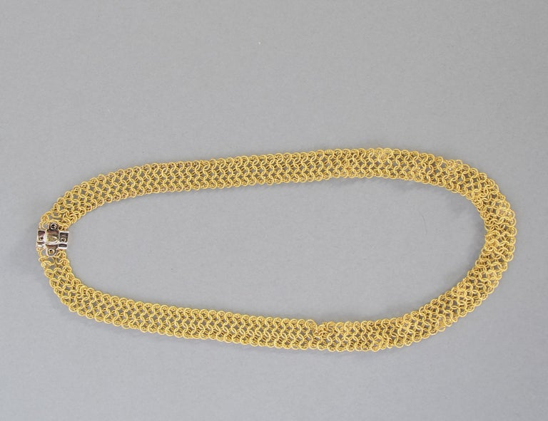 Women's Tiffany & Co. Gold and Diamond Necklace For Sale