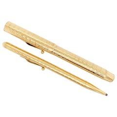 Tiffany Gold Fountain & Ball Point Pens