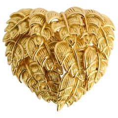 Tiffany Gold Heart Brooch