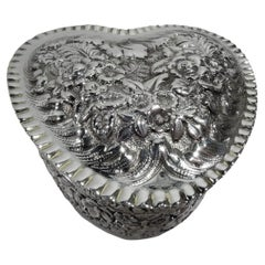 Tiffany Gushingly Romantic Sterling Silver Valentine's Day Heart Box