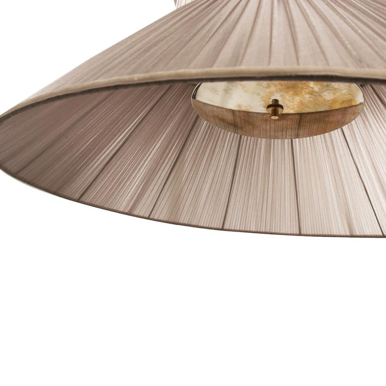 """""""Tiffany"""" contemporary Hanging Lamp 80 silver Silk Silvered Glass , brass  In New Condition For Sale In Pietrasanta, IT"""