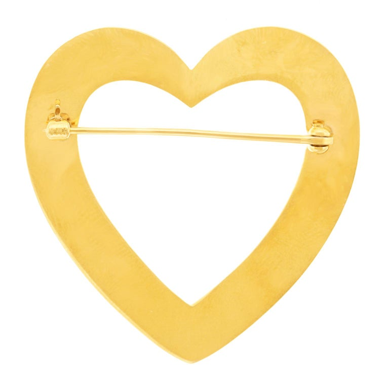 Tiffany & Co. Heart Brooch in Gold For Sale 3