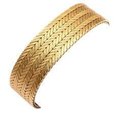 Tiffany & Co. Herringbone Weave Gold Bracelet