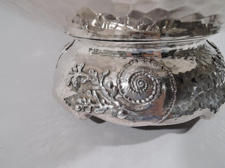 Tiffany Japonesque Applied Sterling Silver Fishbowl Centerpiece For Sale 7