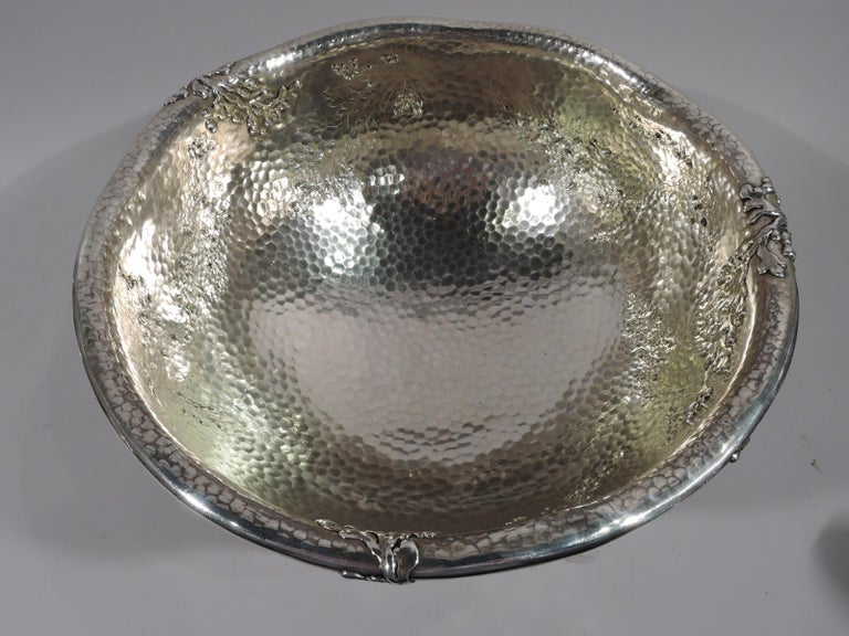 Tiffany Japonesque Applied Sterling Silver Fishbowl Centerpiece In Excellent Condition For Sale In New York, NY