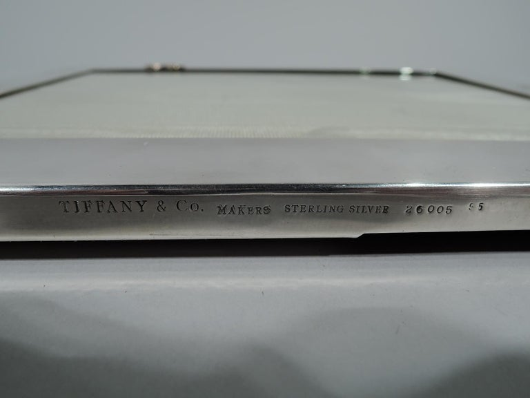 20th Century Tiffany Japonesque-Revival Sterling Silver and Mixed Metal Picture Frame For Sale