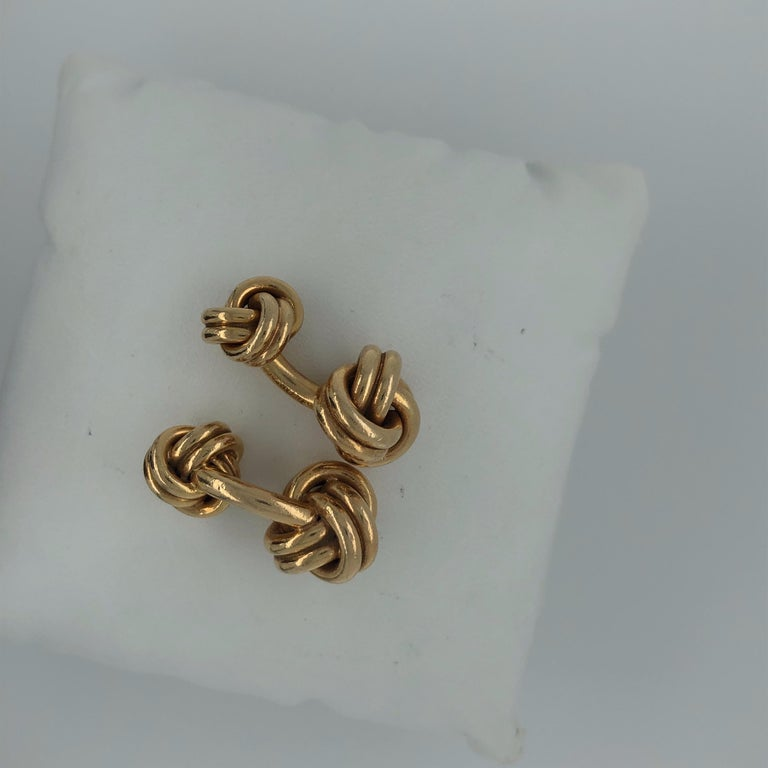 Tiffany 18K Yellow Gold Cufflinks.  Stamped Tiffany and CO.