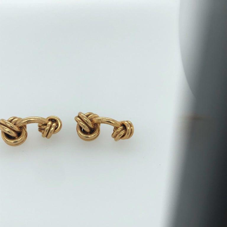Modern Tiffany & Co. Knot Cufflinks For Sale