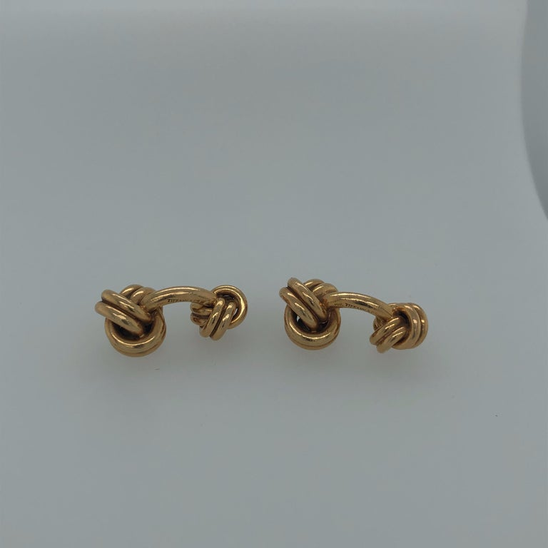 Tiffany & Co. Knot Cufflinks In Good Condition For Sale In Dallas, TX