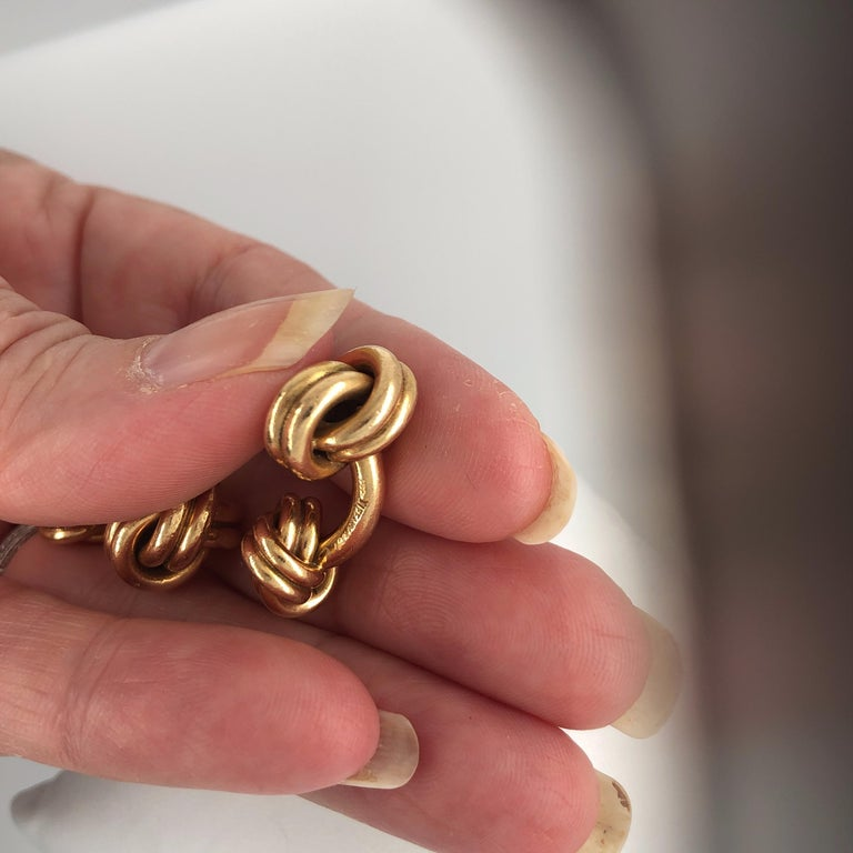 Men's Tiffany & Co. Knot Cufflinks For Sale