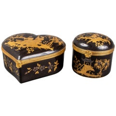Tiffany Le Tallec French Porcelain Chinoiserie Boxes