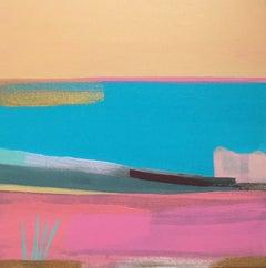 Tiffany Lynch, Shoreline Cliff Shadow, Original Abstract Painting, Art Online