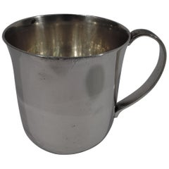 Tiffany Mid-Century Modern Sterling Silver Baby Cup