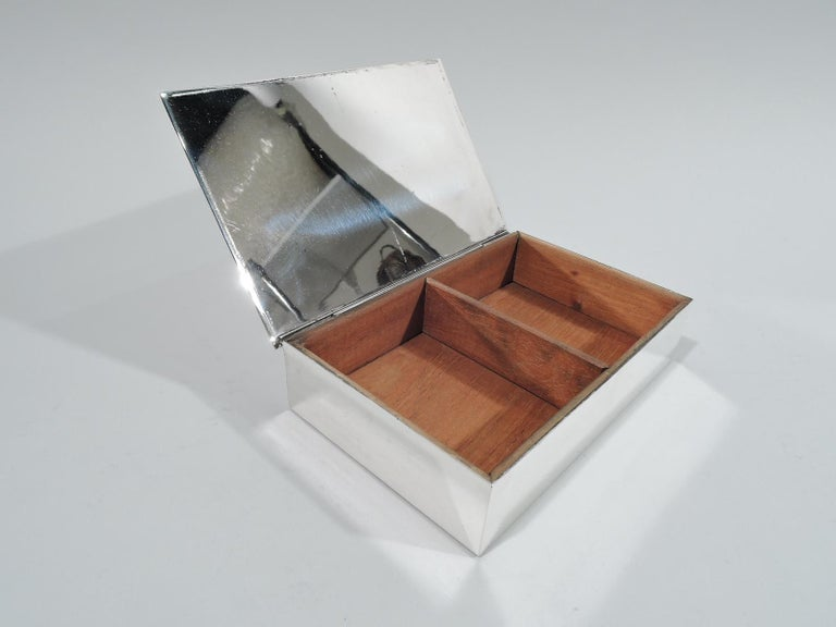 Mid-Century Modern Tiffany Midcentury Modern Sterling Silver Box For Sale