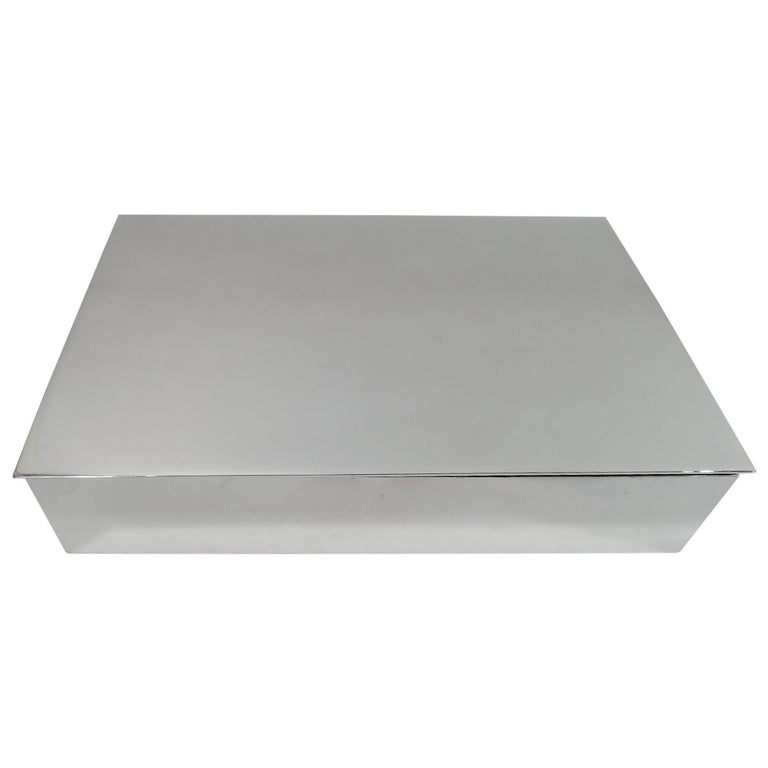 Tiffany Midcentury Modern Sterling Silver Box For Sale