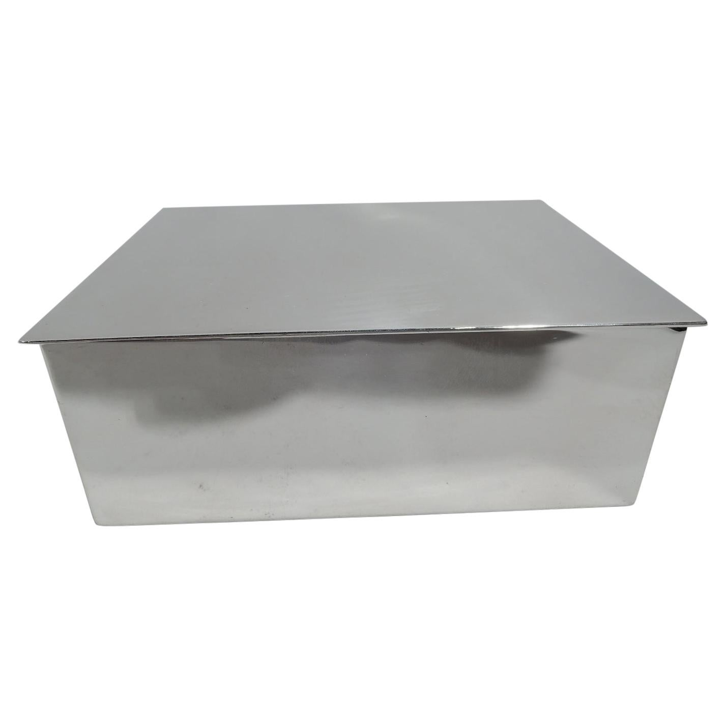 Tiffany Mid-Century Modern Sterling Silver Box