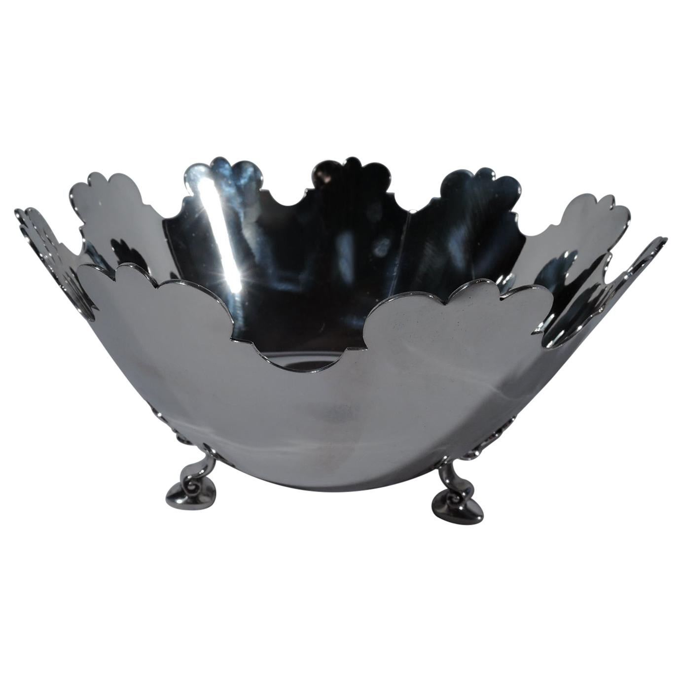 Tiffany Mid-Century Modern Sterling Silver Monteith Bowl