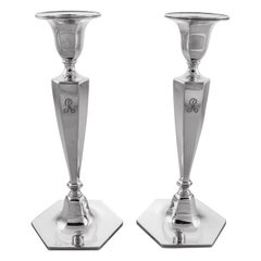 Tiffany Midcentury Sterling Candlesticks