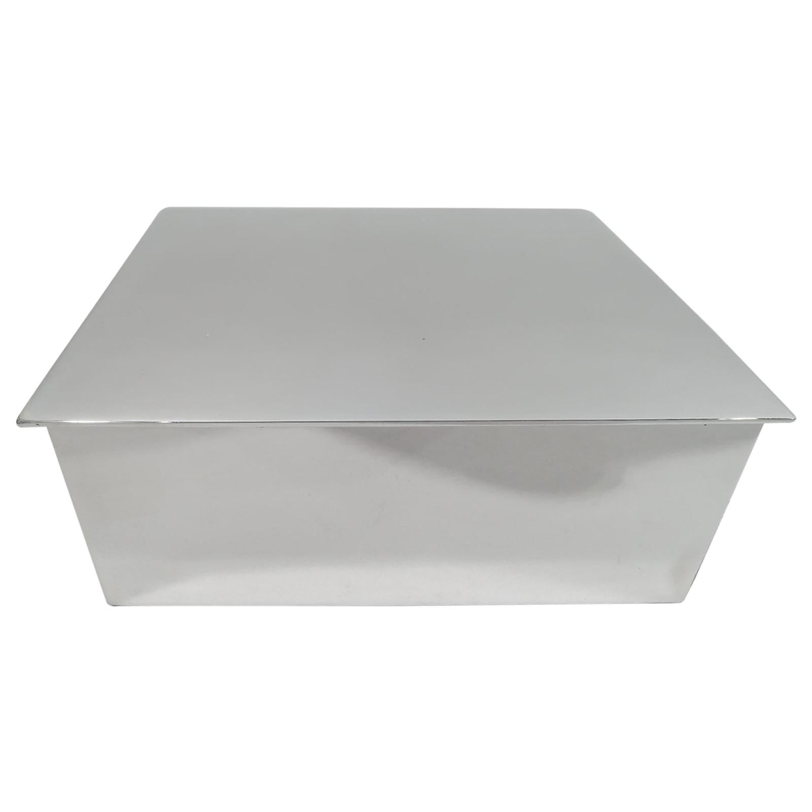 Tiffany Modern and Compact Sterling Silver Box