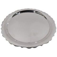 Tiffany Modern Georgian Piecrust Sterling Silver Tray